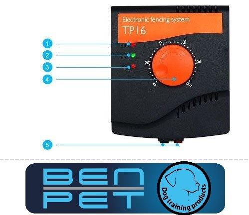 Láthatatlan kerítés eb őrző Benpet TP16 típus vezeték nélkül 5