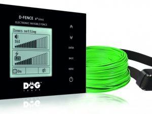 Dogtrace D-Fence 2002 láthatatlan elektromos kutyakerítés szünetmentes táppal fekete 100m vezetékkel