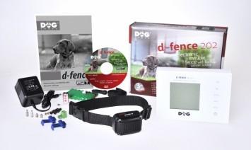 Dogtrace D-Fence 202 láthatatlan elektromos kutyakerítés szünetmentes táppal fehér vezeték nélkül